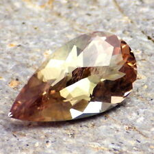 GOLD-GREEN SCHILLER OREGON SUNSTONE 3.79Ct FLAWLESS-FOR JEWELRY-PERFECT FACETING