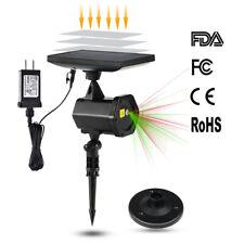 Solar LED Power Xmas Decor Laser Light Projector Lamp Outdoor Garden Waterproof