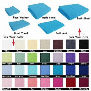 100% Cotton Towel Pieces – Bath Sheet Bath Towel Hand Towel Face Washer Bath Mat