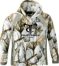 Mens True Timber Fleece Hoodie Snow Camo MC2 Sweat Shirt Hunting Size LARGE NEW