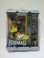 Gi Joe Sigma 6 Snake Eyes Ninja Action Figure Hasbro 2005 Accessories & Case