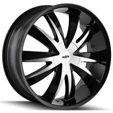 4-NEW Dip D37 Edge 18x7.5 5x110/5x115 +40mm Black/Machined Wheels Rims