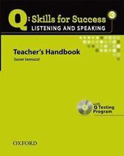 NEW Q Skills for Success - Listening and Speaking Bk. 3 Teacher's Ed. sealed CD.