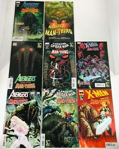 LOT OF 8 CURSE OF THE MAN-THING AVENGERS / SPIDER-MAN/ X-MEN  SET + VARIANTS NM
