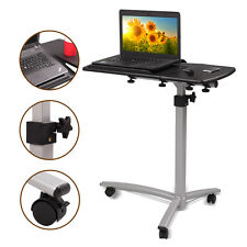 Adjustable Height&Angle Rolling Mobile Laptop Desk Cart Bed Hospital Table Stand