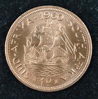 South Africa 1 Penny Coin 1960 UNC, Dromedaris (ship)