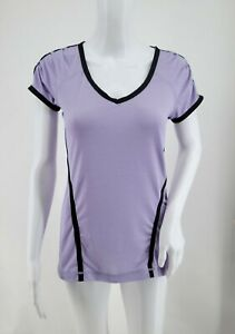 Lululemon Short Sleeve Workout Top Reflective Accent Light Purple Women's 6