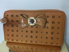 Mimco Leather MIM Bow Wallet Clutch Purse Brand New Honey