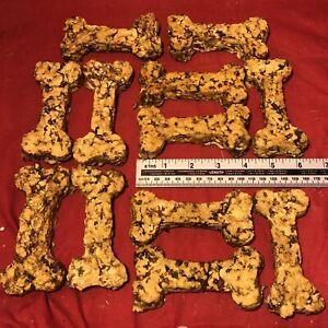 "12 Dog Treat Chewy Beef Bone 4"" Helps Prevents Tartar Light Healthy Treat"
