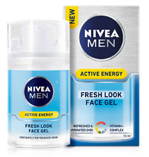 Nivea Men Active Energy Fresh Look Face Gel, 50ml - Pack of 1, 2 or 3