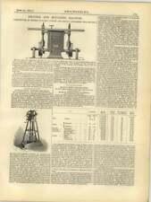 1877 Autographic Testing Machine Prof Thurston