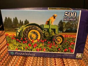Puzzlebug Brand , 500 peice puzzle, Happy Farm Dog, pre-owned--look