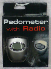 Old School Vintage Pedometer with radio with ear buds - NEW in box - never used