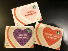STARBUCKS SET OF 3 VALENTINE'S DAY 2021 GIFT CARD NO VALUE HONG KONG EDITION