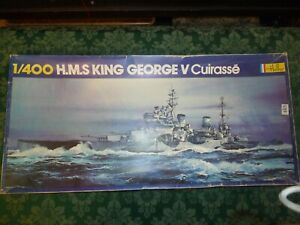 Heller 1/400 Scale HMS King George V Plastic Model Kit Ready to be Made Up