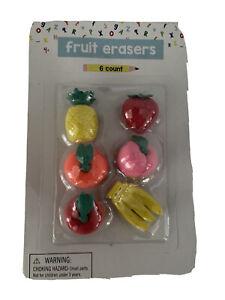 Funny Fruit Food Rubber Eraser Pencil Eraser Stationery Novelty Kawaii 1PC Gift