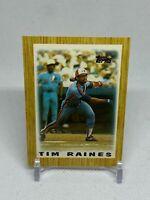 Tim Raines 1987 Topps League Leaders Minis #17 Montreal Expos card HOF