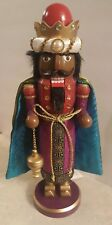 Wiseman Nutcracker African American Wise Man Wooden Christmas Red Blue King New