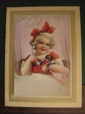 reproduction de peinture : la petite fille au téléphone