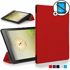 Red Folding Smart Case Cover Stand Lenovo Tab 3 8 Plus Screen Prot Stylus