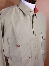 VTG 1980s Aeropostale LS Button Front Fishing Shirt Cotton Nylon sz M or L RARE