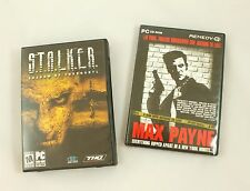 Lot of 2 Vintage Original PC Games - Stalker Shadow of Chernobyl & Max Payne