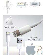 Original 1M largo Genuino iPhone 6 5 5s 5c 6 Plus iPod USB Cable de carga plomo UK