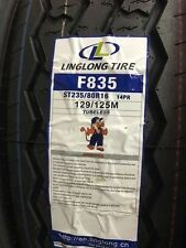 2 TIRES ST235/80R16 235 80 16 LINGLONG TRAILER UTILITY TIRE TIRES 14 PLY