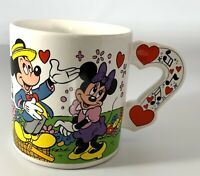 Vintage Walt Disney Mickey's Harts & Music Applause Coffee Ceramic Mug