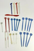 25 Vtg Swizzle Sticks drink stirrer Cocktail bar AIRLINES TWA Pan Am United