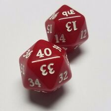 Red EDH / Commander Life Spindown Dice Set (40-21 & 20-1) for Magic MTG CCG