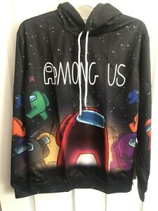 Among Us Video Game Lightweight Hoodie Size LARGE YOUTH - UNISEX Sus Pullover