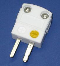 High Temperature Ceramic Miniature Mini K-Type Thermocouple male plug connector
