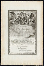 Antique Print-FRONTISPIECE-ANGEL-DUKE OF ORLEANS-Choffard-Guttenberg-1786