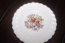 """Sebring Pottery Co Usa 6 1/4"""" plate 22 K Gold trim fruit Della Robbia 1 K Gfe"""