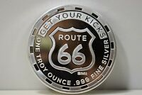 """One Troy Ounce .999 Silver Round """"Get Your Kicks on Route 66"""" 1 oz"""