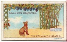 The Fox And The Grapes Aesop's Fable Moral Story 1920s Trade Card