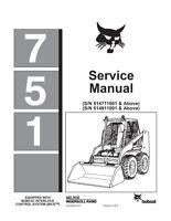 New Bobcat 751 Skid Steer Loader Printed 1997 Repair Service Manual 6724925