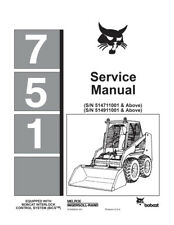 New Bobcat 751 Skid Steer Loader Printed 1995 Repair Service Manual Free S&H