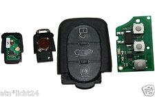 Schlüssel Klappschlüssel Funk Fernbedienung Sendeeinheit 433,92MHZ  für AUDI A02