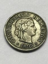 1895-B Switzerland 5 Rappen Fine #7093