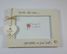 """Personalised Cat Pet Loss  """"Paw Prints on your Heart"""" 4x6 Photo Frame Gift"""