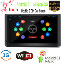 """Android 5.1 3G WIFI 7"""" Double 2DIN Car Radio Stereo NO DVD Player GPS Bluetooth"""