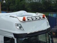 À pour Daf Xf 106 2013+ Super Espace Cab Toit Barre Lumineuse + Leds + Pois +