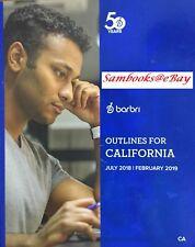 BARBRI OUTLINES FOR CALIFORNIA 2018 ~ 2019
