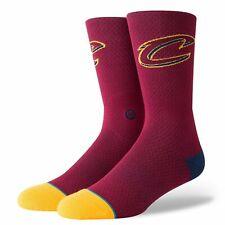 Postura para hombre NBA Cleveland Cavaliers Jersey 2 Logo Calcetines-Marrón/Amarillo/Azul Marino