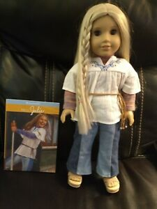 American Girl Doll Julie with Book