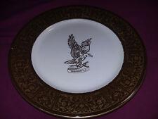 "Vtg Shenango China SHANGRI-LA Restaurant Ware 10-1/2"" Plate U-35 Interpace Gold"