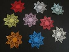 """DIE CUTS HEART  5 DOILEYS STAR   LARGE   CARDSTOCK 4""""x 4"""" approx"""