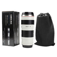 NEW 70-200mm f2.8  Coffee Cup Gift For Canon Fans USM Thermos Camera Lens Mug